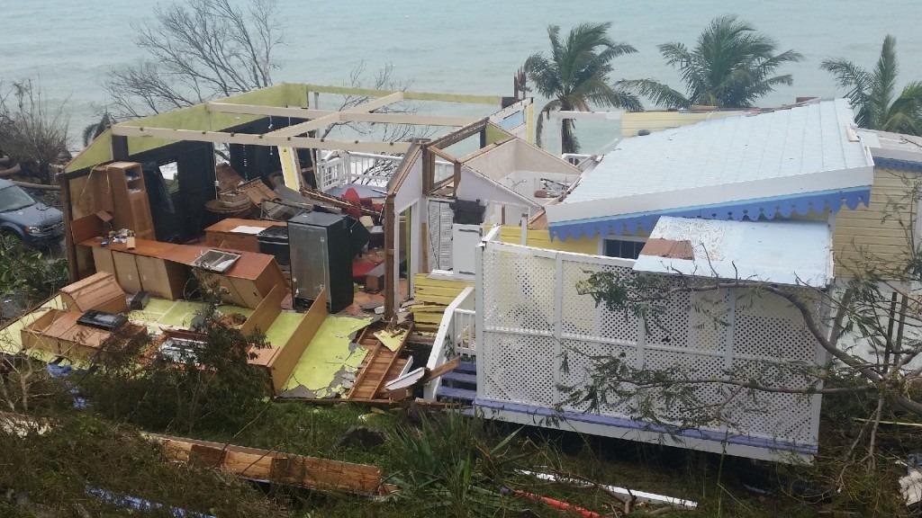 home blown apart on coast