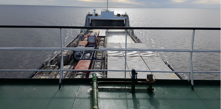 shipping boat on the water