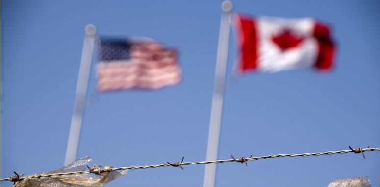 barbed wire with flags