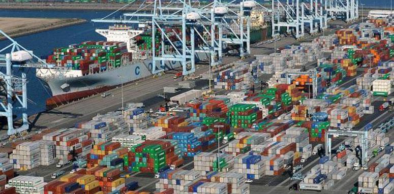 large shipping yard