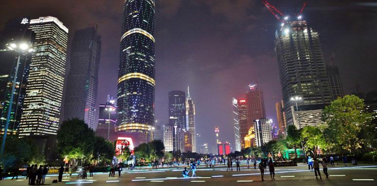 city in china at night
