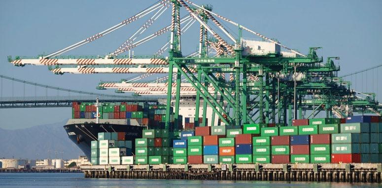 shipping yard with ships