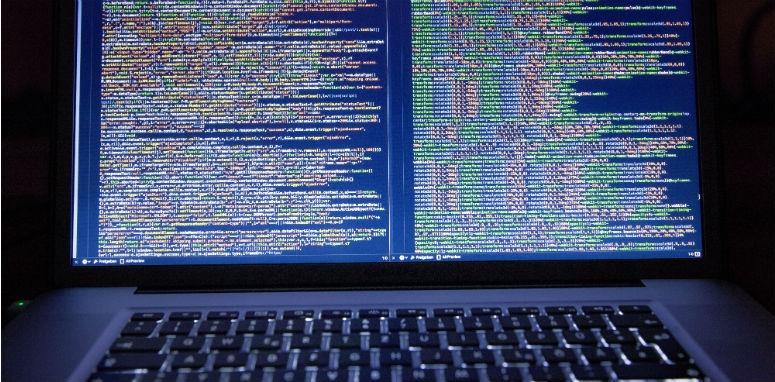 computer code laptop