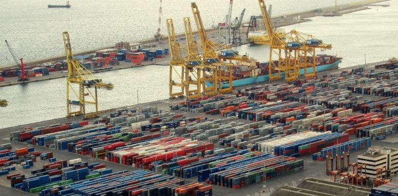 coastal shipping yard
